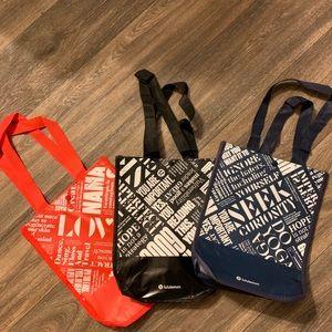 Lululemon | 3 Small Reusable Bags!